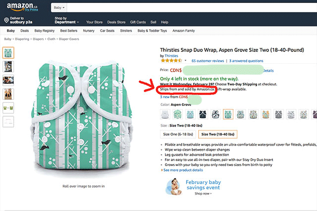 Sold by Amazon