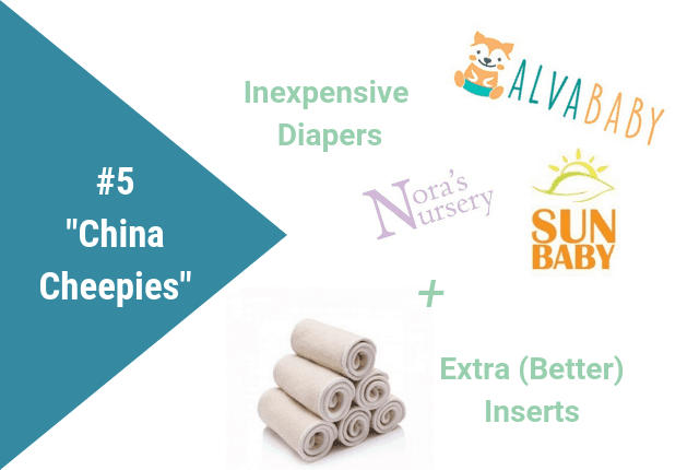Graphic showing inexpensive diapers and extra inserts.