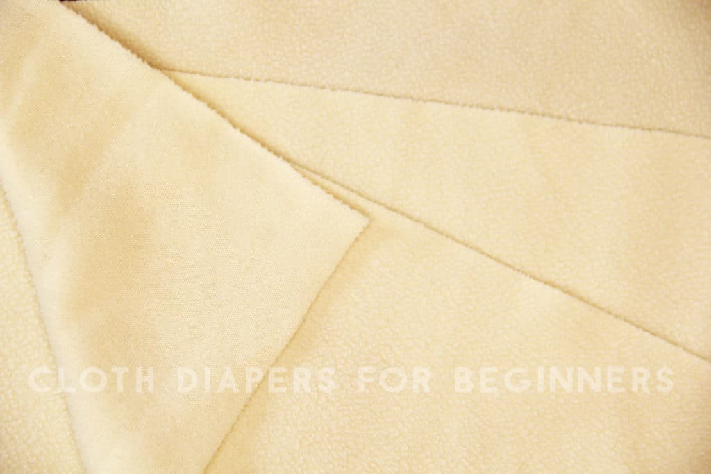 Microfleece cloth diaper liners
